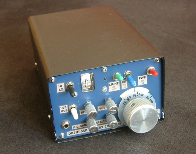 """Old school"" SSB transceiver for 14MHz by DK7IH (2018)"
